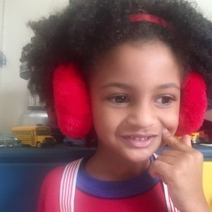 Red Ear Muffs: VNTG adjustable Adult and Child
